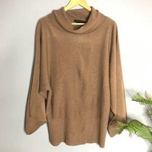 BCBGMaxAzria Brown Cowl Neck Loose Sweater XL